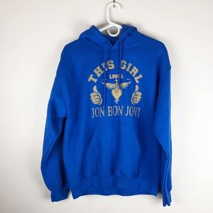 'This Girl Loves Jon Bon Jovi' Hoodie Sweatshirt